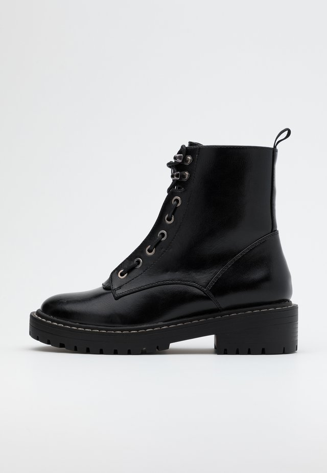 ONLBOLD LACE UP BOOT  - Stivaletti con plateau - black