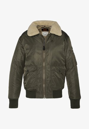 PILOTE - Bomber Jacket - khaki/beige