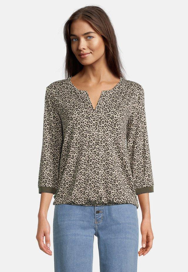 T-shirt à manches longues - witte/grijs