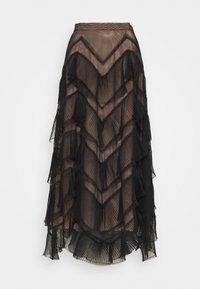 TWINSET - GONNA LUNGA BALZE - A-line skirt - nero - 6