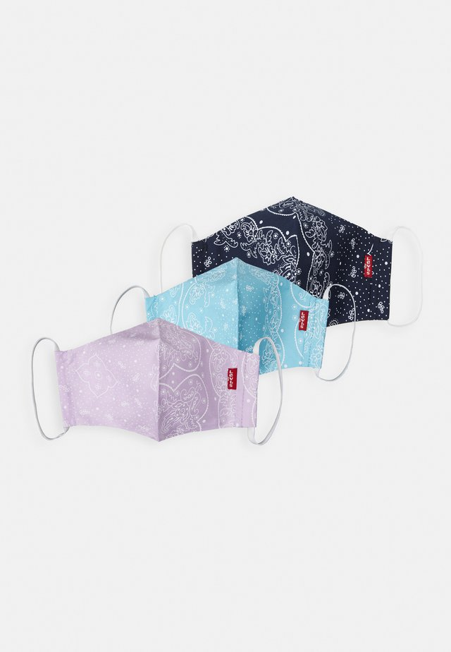 REUSABLE BANDANA FACE COVERING UNISEX 3 PACK - Stoffen mondkapje - blue/purple/light blue