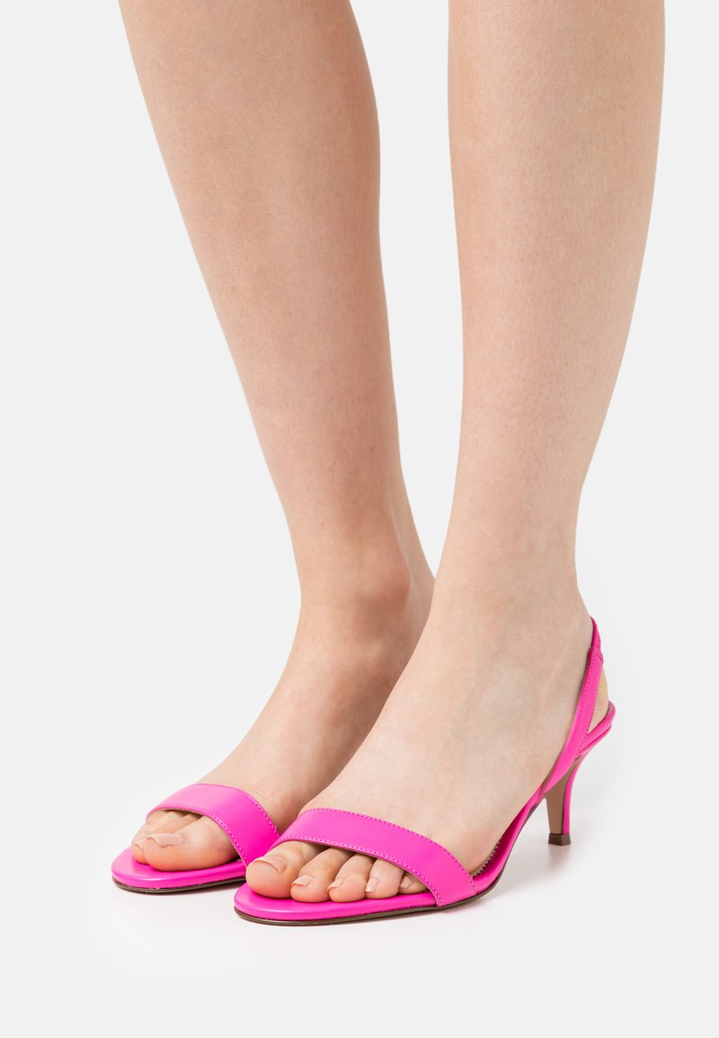 J.CREW - SIMPLE SLINGBACK NAN  - Sandals - neon flamingo