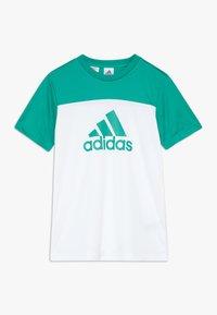 adidas Performance - TEE - Camiseta estampada - white/green - 0