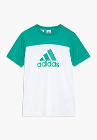 adidas Performance - TEE - T-shirt print - white/green - 0