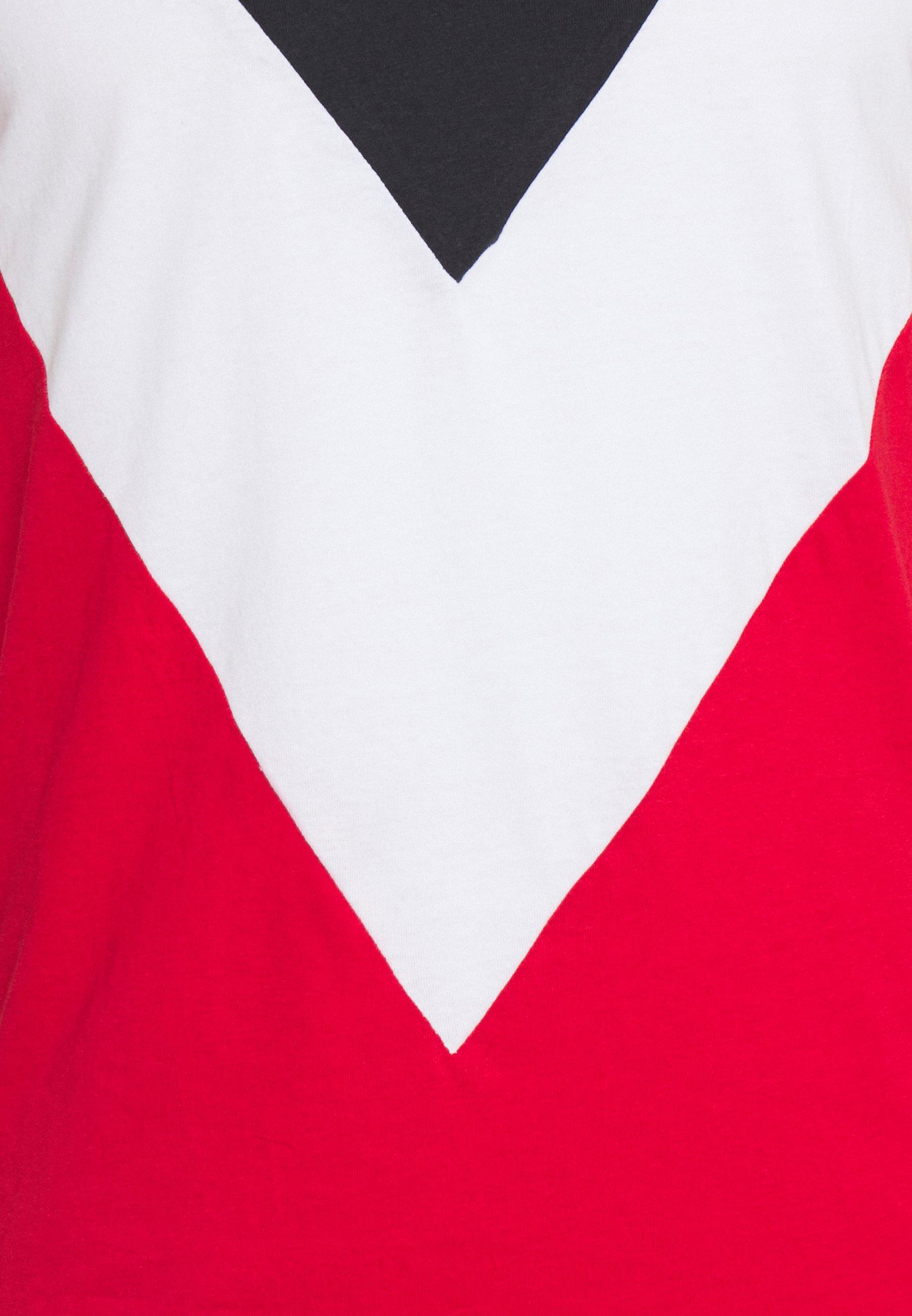 Brave Soul POINTC - Print T-shirt - navy/optic white/red qS3x1