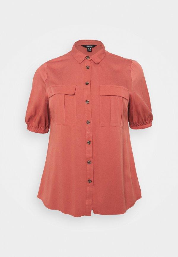 CAPSULE by Simply Be BALLOON SLEEVE UTILITY - Bluzka - baked peach/rÓżowy LFSH