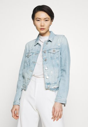 JACKET DESTROYED LIGHT BLUE - Džínová bunda - light blue denim