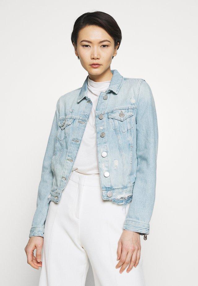 JACKET DESTROYED LIGHT BLUE - Giacca di jeans - light blue denim
