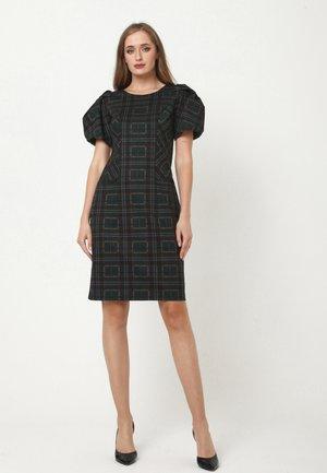 ANGELICA - Jersey dress - schwarz  grün