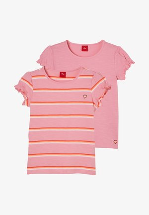 T-Shirt print - pink stripes/pink