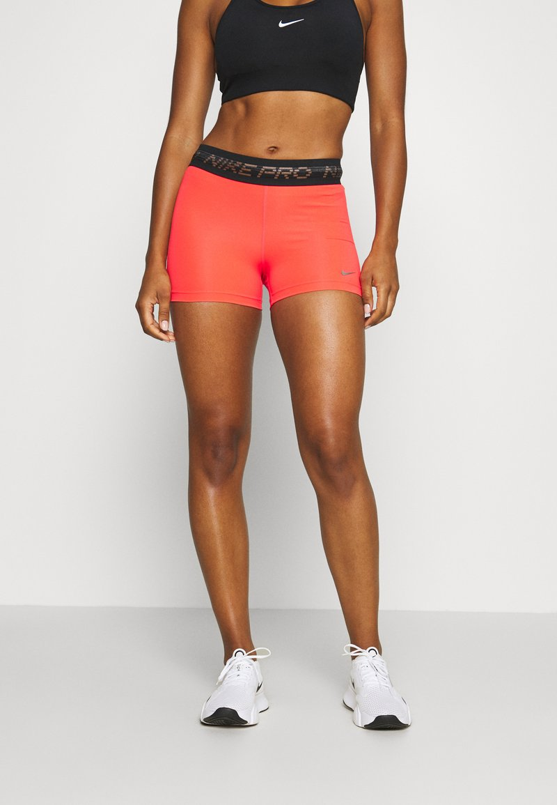 Nike Performance - PRO SHORT - Tights - laser crimson/black/metallic silver