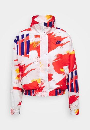 JACKET - Training jacket - white/solar red/citrus/ultramarine