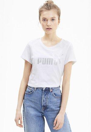T-shirt con stampa - puma white-silver