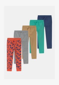 Friboo - 5 PACK  - Tracksuit bottoms - red/grey/turquoise - 0