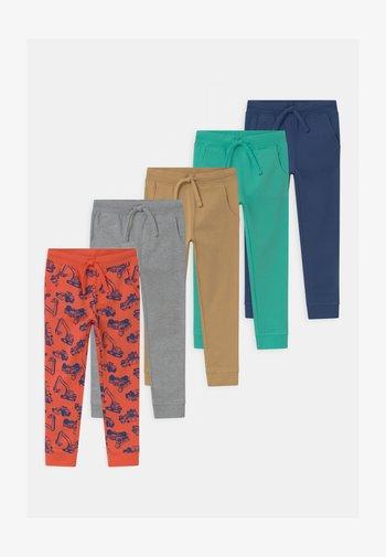 5 PACK  - Pantalones deportivos - red/grey/turquoise