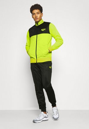 LUCAS TRACKSUIT SET - Tracksuit - lime punch/black