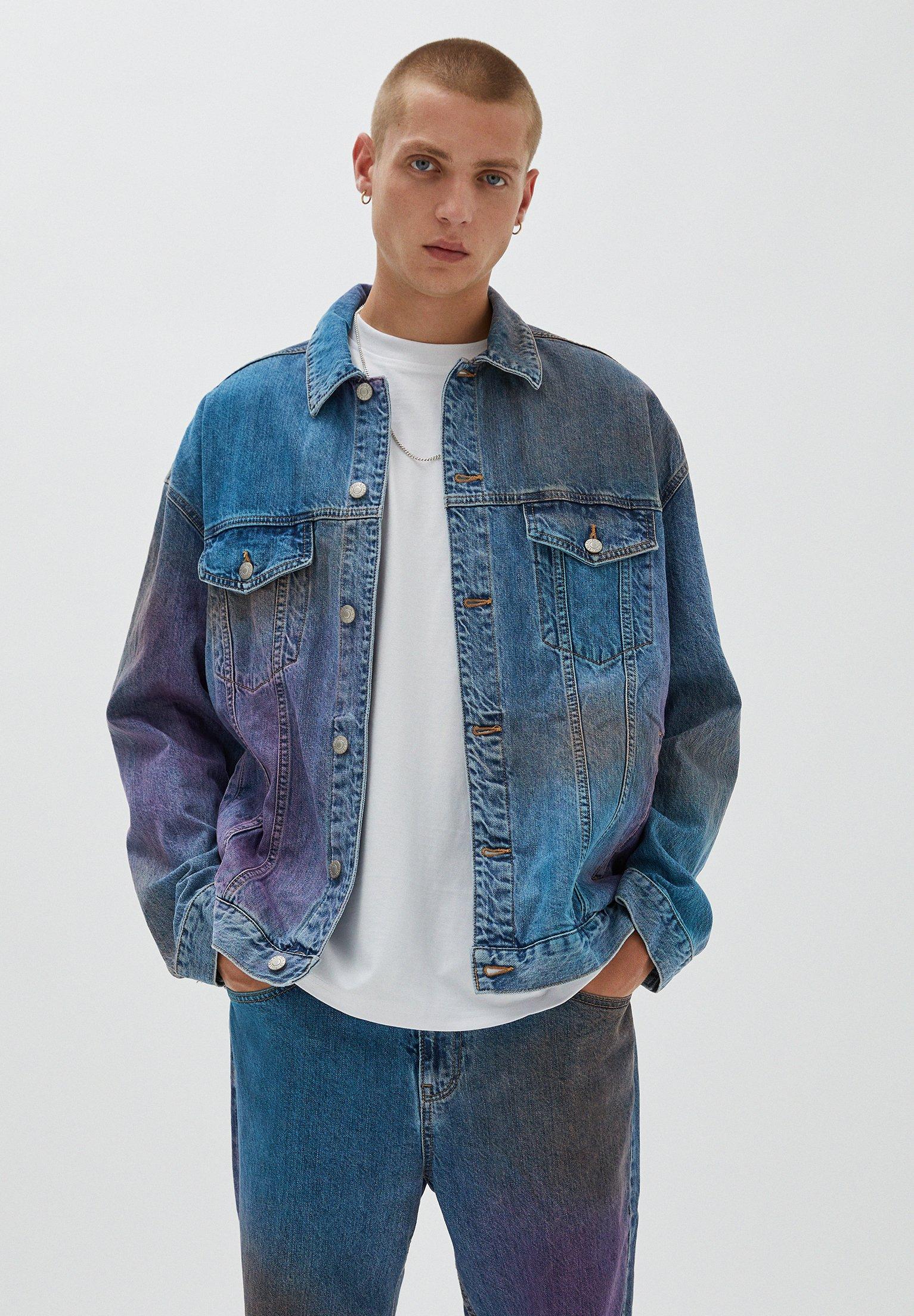 Uomo MIT SPRAYPRINT - Giacca di jeans