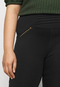 CAPSULE by Simply Be - ZIP DETAIL SHAPER - Leggings - Trousers - black - 5