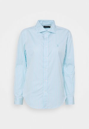 GEORGIA LONG SLEEVE - Button-down blouse - turquoise cloud/white