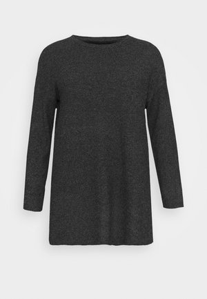 VMBRILLIANT ONECK LONG  - Jumper - black melange