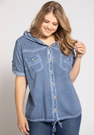 DAMEN GROSSE GRÖSSEN - Button-down blouse - blaubeere