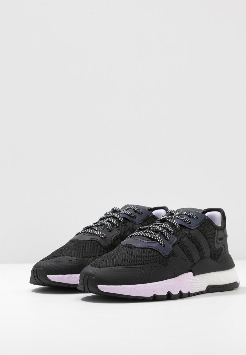 tobillo Cercanamente Disfraces  adidas Originals NITE JOGGER - Trainers - core black/footwear white -  Zalando.de