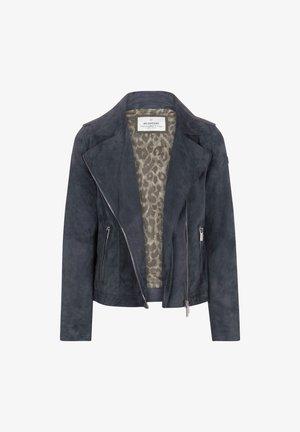 Zita - Leather jacket - blau