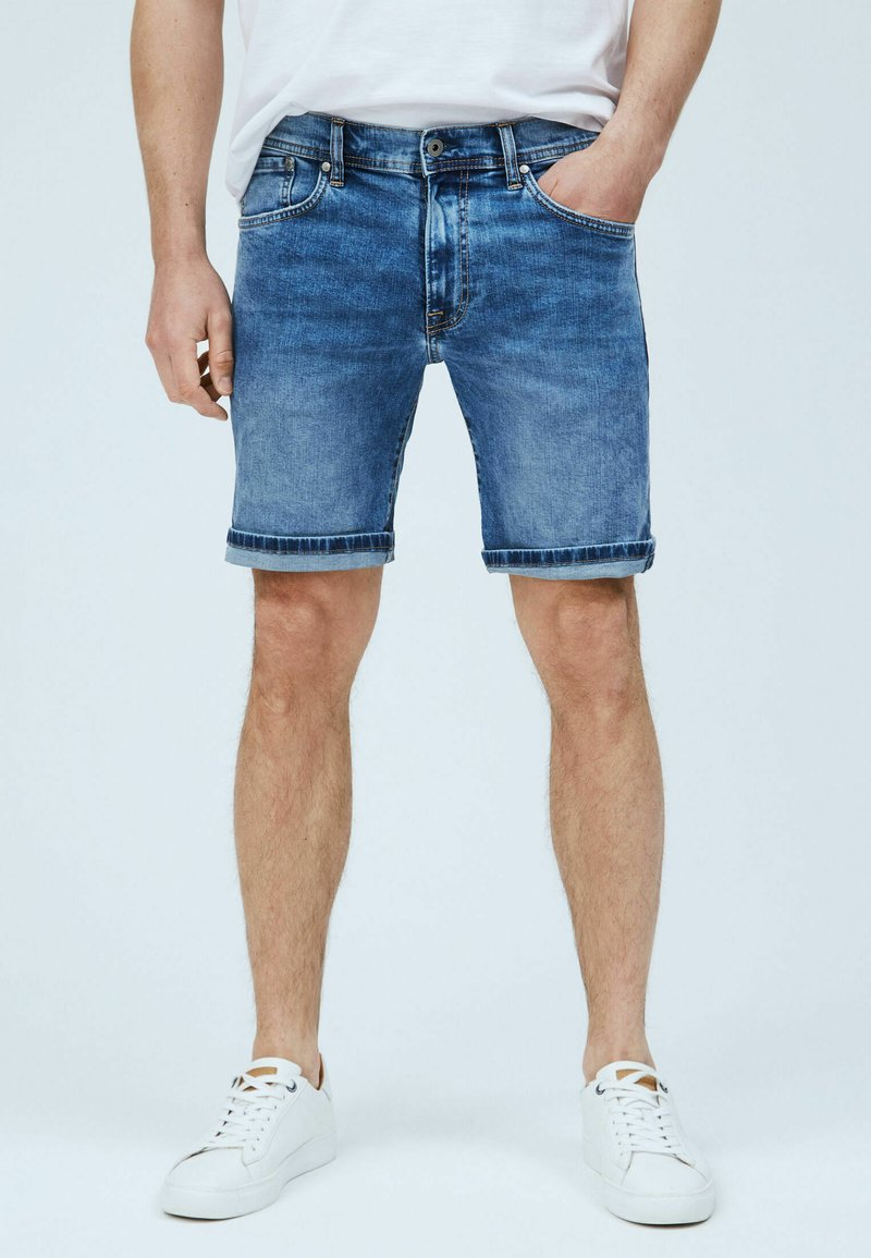 Pepe Jeans - CANE - Denim shorts - blue