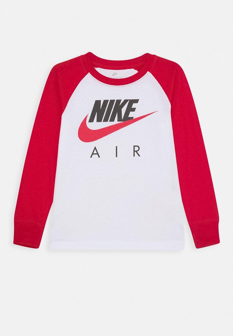 Nike Sportswear - AIR RAGLAN - Camiseta de manga larga - white/university red