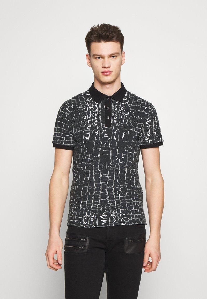 Just Cavalli - ANIMAL PRINT - Polo shirt - black