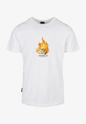 T-shirt con stampa - white/mc