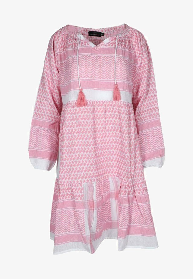 VALENTINA - Day dress - rosa weiß