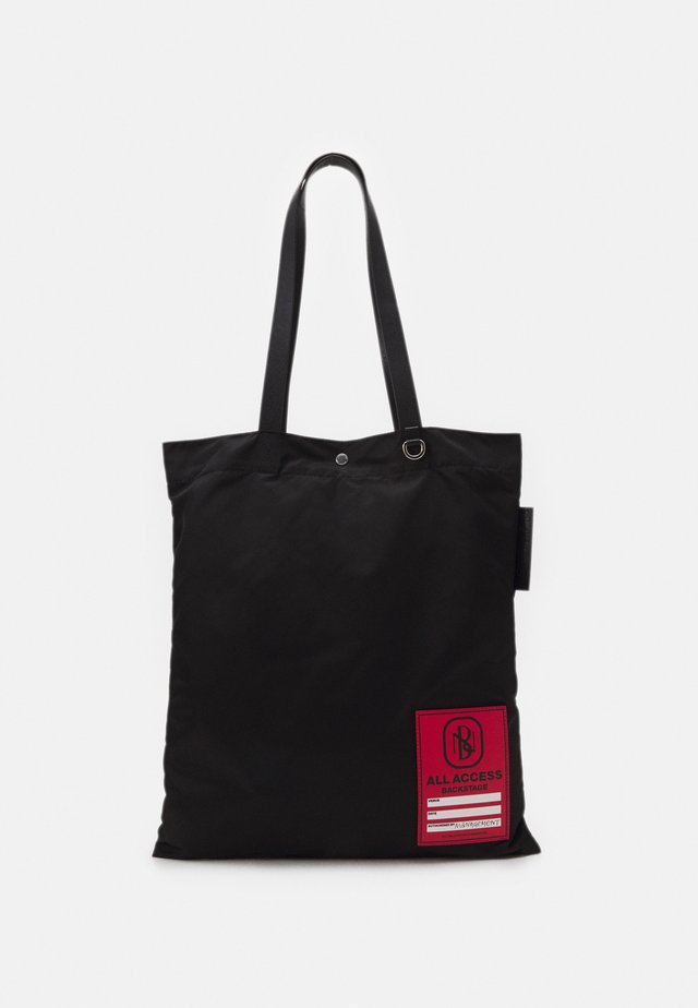 ACCESS BADGE TOTE BAG UNISEX - Shopping bag - black/red