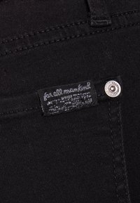 7 for all mankind - CROP - Jeans Skinny Fit - bair rinsed black