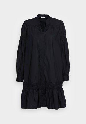 DRESS SMOCK DETAILS AT SLEEVE AND SKIRT LONGSLEEVE - Denní šaty - black