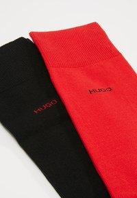 HUGO - 2 PACK - Calcetines - red/black - 2