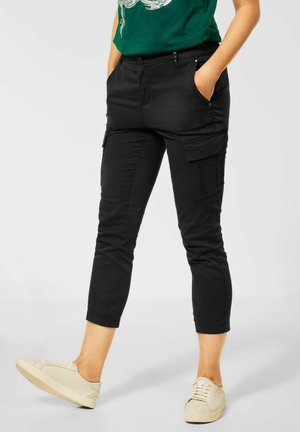 LOOSE FIT PAPERBAG - Cargo trousers - schwarz