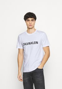 Calvin Klein - LOGO BOX - T-shirt med print - white - 0
