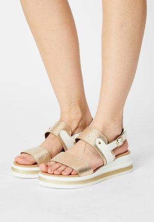 Wedge sandals - bistrot platino