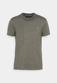 Lyle & Scott - MARLED - T-shirt - bas - trek green marl - 4