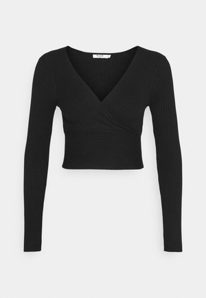 MATIAMU BY SOFIA X OVERLAP SWEATER - Maglione - black