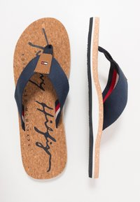 Tommy Hilfiger - SIGNATURE BEACH - T-bar sandals - blue - 1