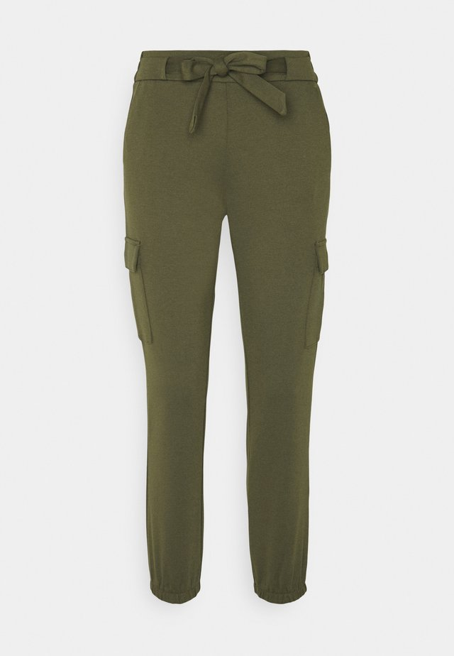 TRACKPANTS - Trousers - deep olive green