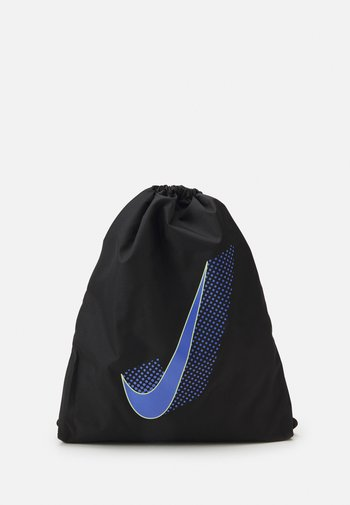 BAG DRAWSTRING UNISEX - Drawstring sports bag - black/sapphire