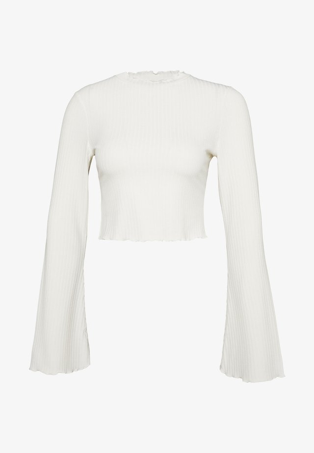 TRUMPET SLEEVE - Long sleeved top - offwhite