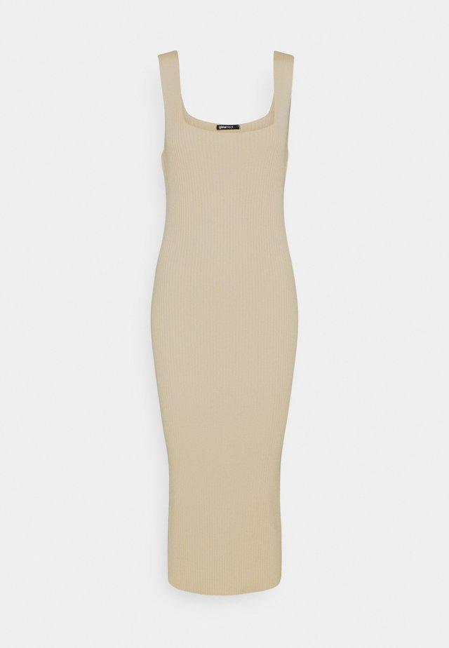 HARPER DRESS - Sukienka dzianinowa - fog