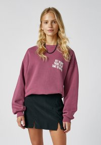 PULL&BEAR - Mini skirt - mottled dark grey - 3