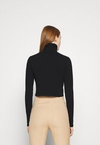 Cotton On - EVERYDAY CHOP MOCK NECK LONG SLEEVE - Long sleeved top - black - 2