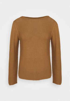SMALL LINKED ON COLLAR - Jumper - true camel