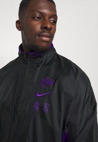 Nike Performance - NBA LA LAKERS TRACKSUIT - Klubové oblečení - black/field purple - 4